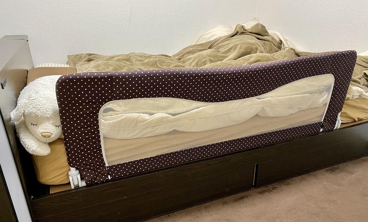ワンオペ二人目育児の必需品 寝かしつけ 日本育児 ベッドガード 寝室