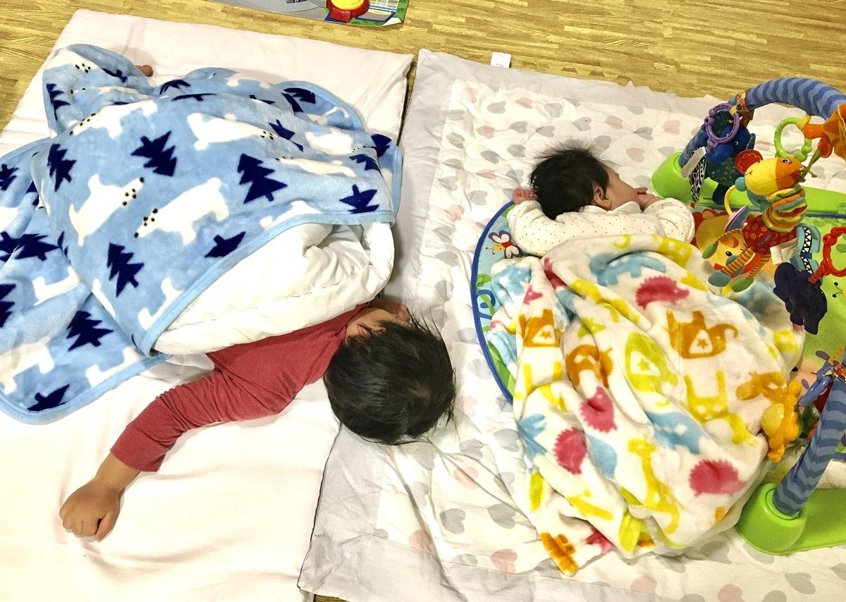 ワンオペ 二人目育児 必需品 プレイマット 2歳差育児 2歳0歳