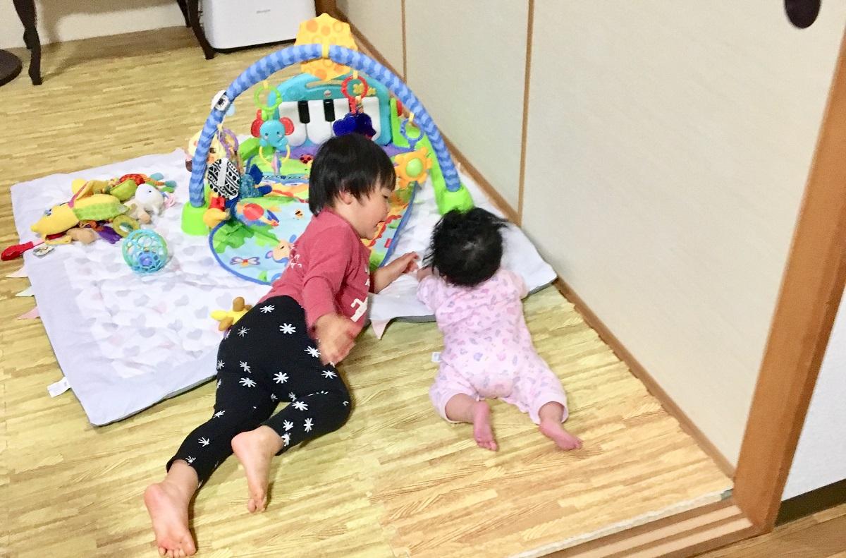 ワンオペ二人目育児の必需品 あると便利な育児グッズ フィッシャープライス プレイマット プレイジム 2歳差育児 2歳0歳