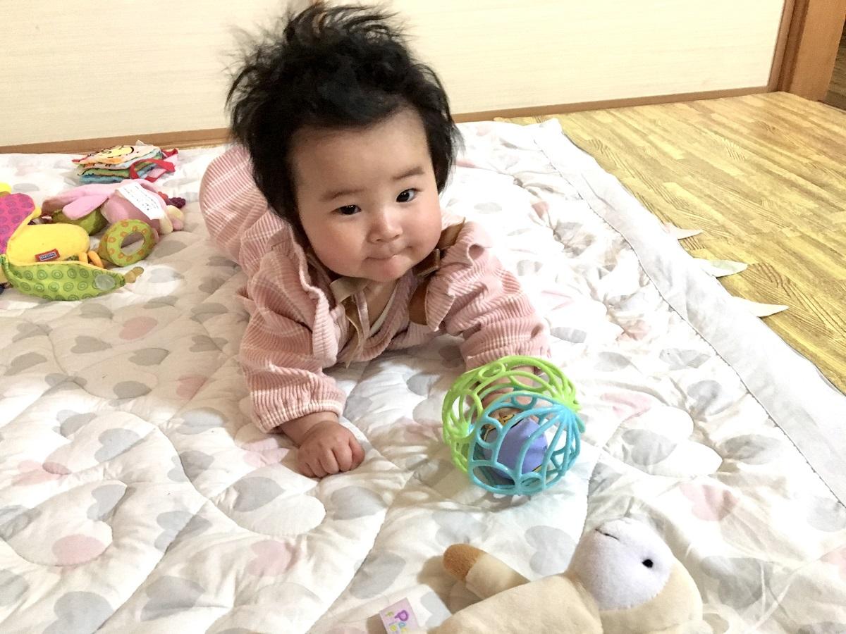 ワンオペ二人目育児の必需品 あると便利な育児グッズ ニトリ ベビーマット プレイマット 0歳 赤ちゃん