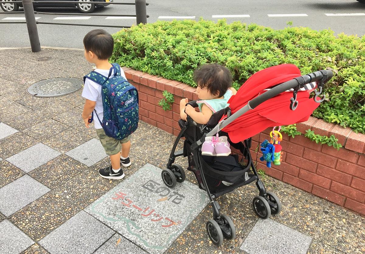 ワンオペ二人目育児 お出かけの必需品 ベビーカー アップリカ 3歳1歳 兄妹 二歳差育児